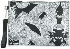 Versace Baroque print clutch