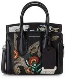 Alexander McQueen Mini Heroine Embroidered Leather Satchel