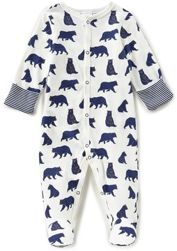 Starting Out Baby Boys Newborn-6 Months Bear-Print Footed Coverall