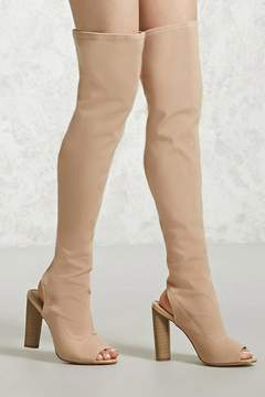 Forever 21 Over-the-Knee Cutout Boots