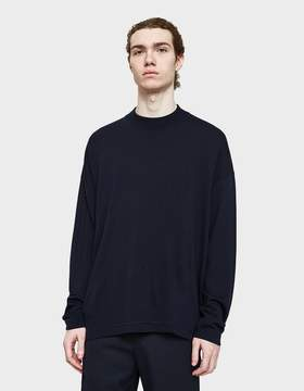 Jil Sander Crewneck Sweater in Dark Navy