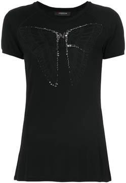 Jo No Fui embellished butterfly T-shirt