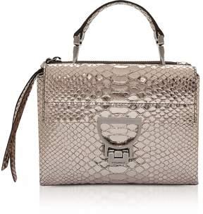 Coccinelle Arlettis Metallic Python Leather Mini Bag w/Shoulder Strap