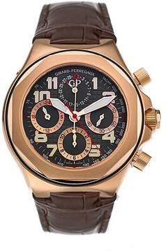 Girard Perregaux Laureato EVO3 18kt Rose Gold Brown Leather Men's Watch