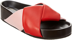 Celine Boxy Twist Leather Sandal