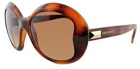 Emilio Pucci Ep 745s 214 Havana Round Sunglasses.