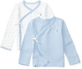 Ralph Lauren | Cotton Kimono Top 2-Pack | 6-12 months | Sconset blue/white