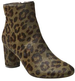Banana Republic Printed Haircalf Round Block Heel Bootie