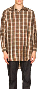 Maison Margiela Long Sleeve Plaid Shirt