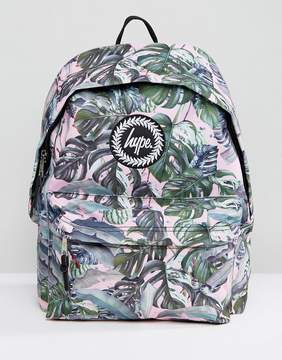 Hype Exclusive Pastel Garden Palm Print Backpack