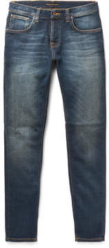 Nudie Jeans Grim Trim Slim-Fit Organic Stretch-Denim Jeans