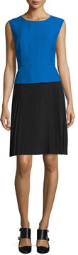 CNC Costume National Sleeveless Colorblock Sheath Dress, Blue