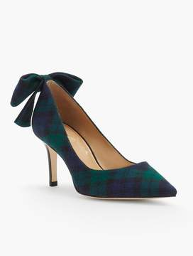 Talbots Erica Bow-Back Pumps-Flannel