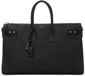 Saint Laurent Black Sac de Jour Supple Duffle 36 Bag