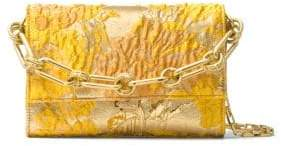 Michael Kors Yasmeen Metallic Leather Clutch - LEMON - STYLE