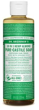 Dr. Bronner's Almond Pure-Castile Liquid Soap - 8oz