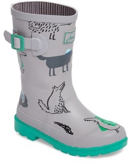 Joules Boy's Printed Waterproof Rain Boot