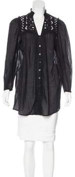 ALICE by Temperley Woven Eyelet Tunic