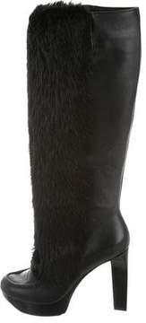 Robert Clergerie Clergerie Paris Fur Knee-High Boots w/ Tags