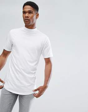 ONLY & SONS T-Shirt with High Neck and Curved Hem Details