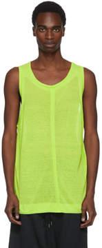 Robert Geller Green Knit Tank Top