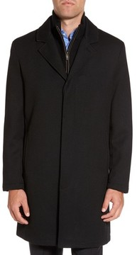 Cole Haan Men's Modern Twill Topcoat With Removable Bib