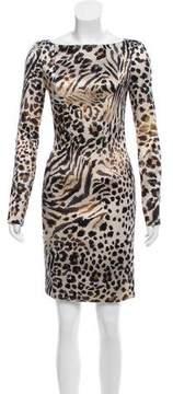 Blumarine Printed Satin Dress