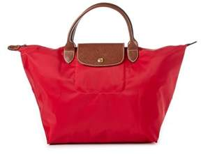Longchamp Le Pliage Medium Nylon Handbag. - RED - STYLE