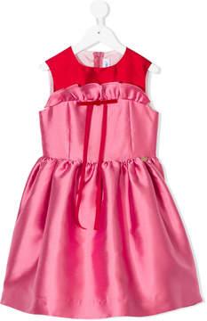 Simonetta high shine satin dress