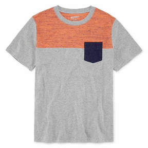 Arizona Short Sleeve Colorblock T-Shirt-Boys 4-20