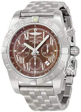 Breitling Chronomat B01 Brown Dial Stainless Steel Men's Watch