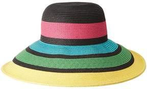 San Diego Hat Company UBL6811 Sun Brim w/ Stripes Caps