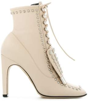 Sergio Rossi studded lace-up ankle boots
