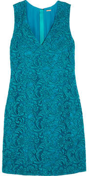 ADAM by Adam Lippes Corded Cotton-blend Lace Mini Dress - Turquoise