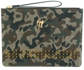 Giuseppe Zanotti Design Margery camouflage studded clutch