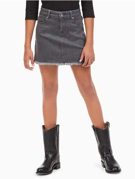 Calvin Klein Jeans Girls Studded Cut-Off Denim Skirt