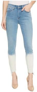 1 STATE 1.STATE Five-Pocket Dip-Dye Hem Skinny Jeans in Riviera Wash Women's Jeans