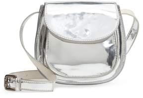 Deux Lux Shine Faux Leather Saddle Bag