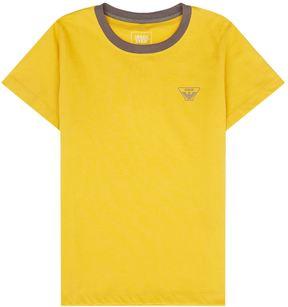 Armani Junior Contrast Collar Logo T-Shirt