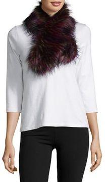 La Fiorentina Multicolored Faux Fur Scarf