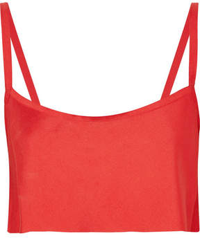 Ann Demeulemeester Cropped Crepe Top - Red