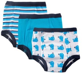 Luvable Friends Baby Boy and Girl Training Pants, 3-Pack - 12-18M - Whale