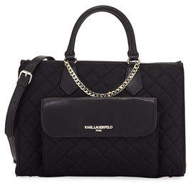 Karl Lagerfeld Paris Lucille Colorblock Nylon Satchel Bag