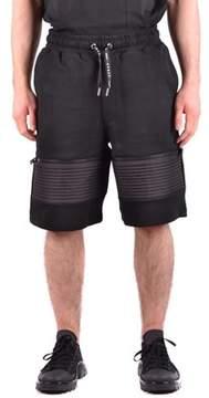 Les Hommes Men's Black Cotton Shorts.