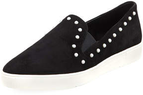 Karl Lagerfeld Paris Amory Studded Suede Sneakers