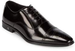 Versace Medallion Toe Leather Oxfords