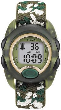 Timex Kids Green Camo Fabric Strap Digital Watch T719129J