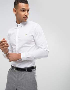 Farah Classic Shirt In Skinny Fit With Stretch