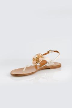 AERIN Cream Leather Sandals
