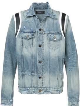Amiri varsity denim trucker jacket